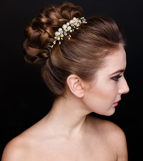 get that special look on your wedding day with bridal hair services by eclectic studio