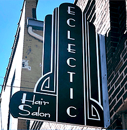 eclectic studio hair salon downtown lafayette indiana location